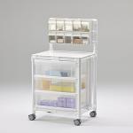 Stationswagen Pflegewagen transparent Hygiene RCN; als MRT Produkt auch im Shop