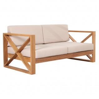 Outdoor Sofa Molveno 2-Sitzer Teak Massivholz - Vorschau 2