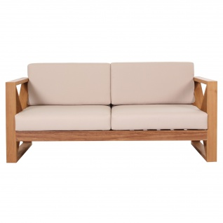 Outdoor Sofa Molveno 2-Sitzer Teak Massivholz - Vorschau 1