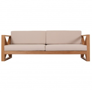 Outdoor Sofa Molveno 3-Sitzer Teak Massivholz