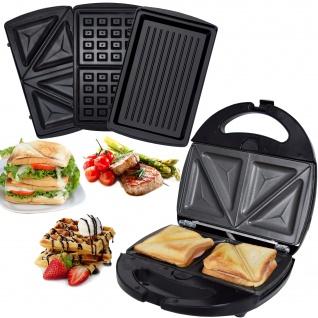 SM-1300W 3 in 1 Sandwich Waffel Grill