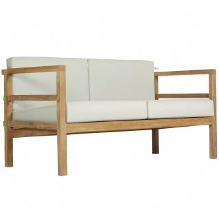 Outdoor Sofa Pusiano 2-Sitzer Teak Massivholz - Vorschau 2