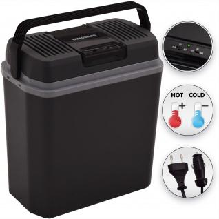 2 in 1 Thermoelektrische Kühlbox Minikühlschrank Warmhaltebox 24 Liter 12 & 220 Volt