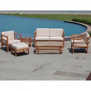 Outdoor Sofa Pusiano 2-Sitzer Teak Massivholz - Vorschau 5