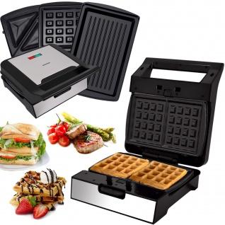 MM-1400W 3 in 1 Sandwich Waffel Grill