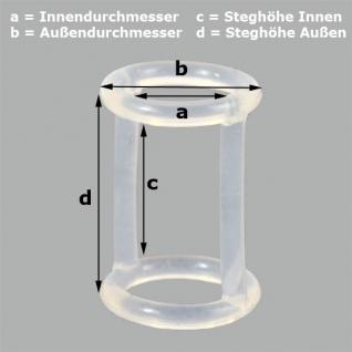 H-Dichtung 1 für Softeismaschine-Profi a= 15mm b= 21mm c= 24mm d= 30mm