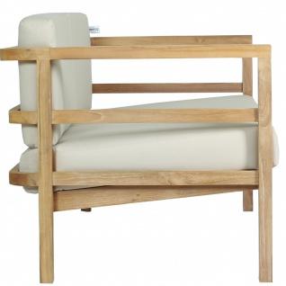 Outdoor Sofa Pusiano 2-Sitzer Teak Massivholz - Vorschau 3