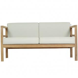 Outdoor Sofa Pusiano 2-Sitzer Teak Massivholz