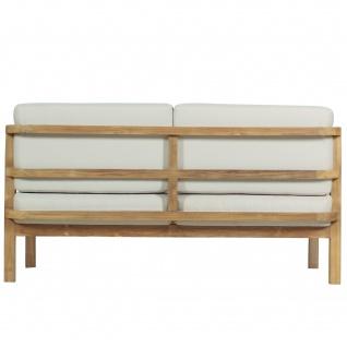 Outdoor Sofa Pusiano 2-Sitzer Teak Massivholz - Vorschau 4