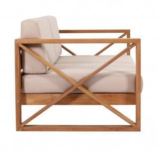Outdoor Sofa Molveno 2-Sitzer Teak Massivholz - Vorschau 3