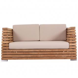 Outdoor Sofa Picardie 2-Sitzer Teak Massivholz