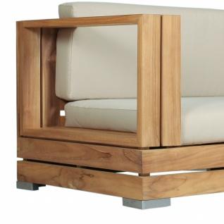 Outdoor Sofa Korsika 2-Sitzer Teakholz Edelstahl - Vorschau 4