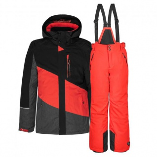 Skianzug Kinder Jacke + Hose Gr. 140 - orange - 140 Orange