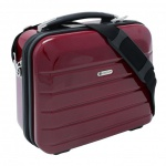 "Beauty Case "" London"" 12L Kosmetikkoffer Schminkkoffer Business Koffer Carbon Rot - Carbon Rot"