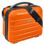 "Beauty Case "" London"" 12 L - Kosmetikkoffer Schminkkoffer Business Koffer - Orange"