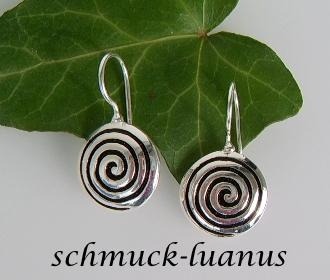 Silber Ohrringe Spirale