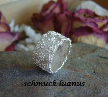 Ring Silber breit matt