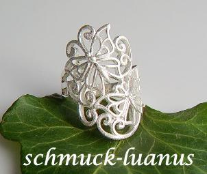 Ring Silber durchbrochen matt