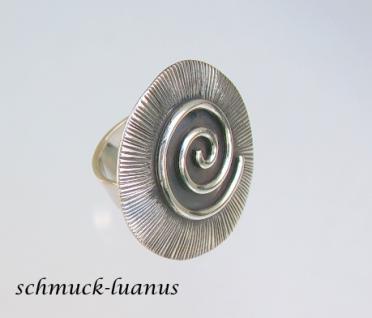 Ring Silber Tellerring Spirale