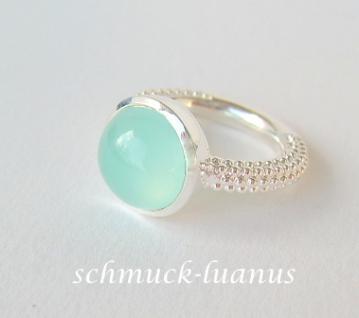Aqua Chalcedon Ring Silber - Vorschau 2