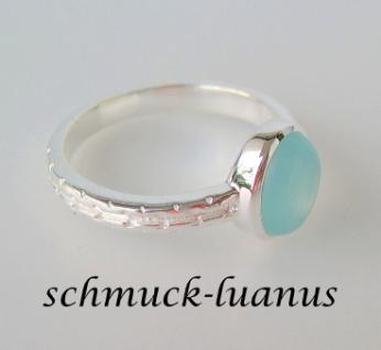 Aqua Chalcedon Ring Silber - Vorschau 4