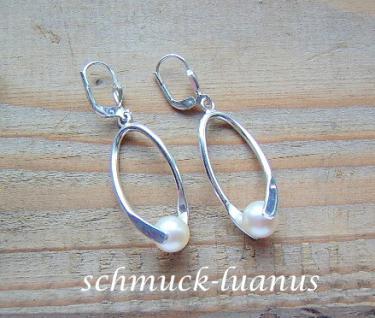 Perlen Ohrringe Silber - Vorschau 2