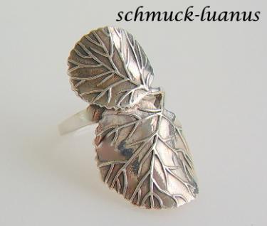 Ring Silber Blatt