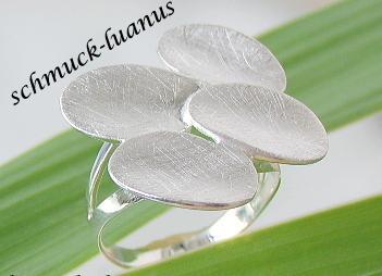 Silberring matt Tellerrring