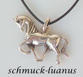 Pferd Kettenanhänger Silber