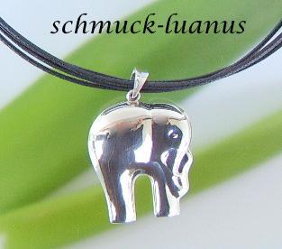 Elefant Kettenanhänger Silber