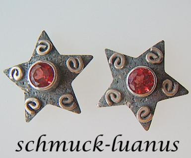 Granat Ohrstecker Silber