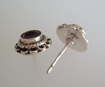 Granat Ohrstecker Silber - Vorschau 2
