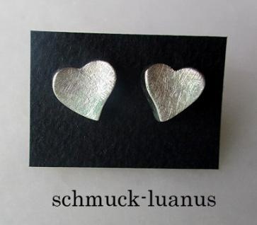 Herz Ohrstecker Silber
