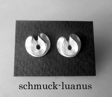 Ohrstecker Silber matt Spirale 10 mm