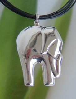 Kettenanhänger Elefant Silber
