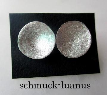 Ohrstecker Silber matt
