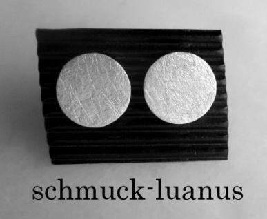 Ohrstecker Silber 925 matt rund 12 mm