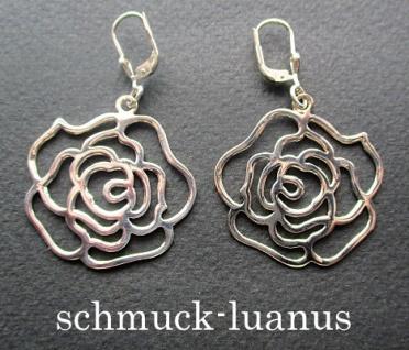 Ohrringe Rosen Silber filigran Rosenohrringe