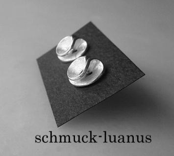 Ohrstecker Silber matt Spirale 10 mm - Vorschau 2