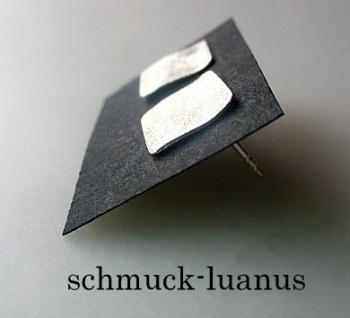 Silber Ohrstecker matt quadratisch 10x10 mm - Vorschau 2