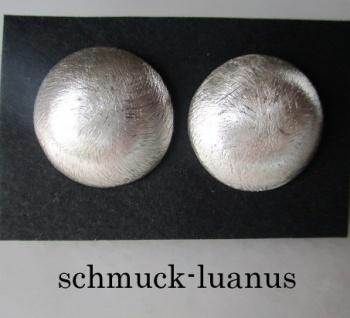 Ohrstecker Silber matt groß 18 mm bauchig