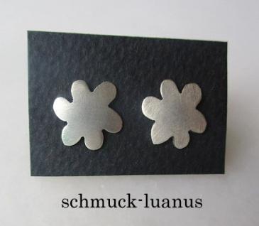 Ohrstecker Silber matt 11 mm Blüte