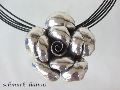 Anhänger Rose Silber