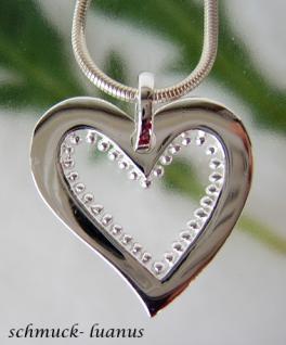 Herzanhänger Silber Herz 925 groß Silberanhänger