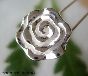 Rose Anhänger Silber 925 Sterling groß Rosenanhänger