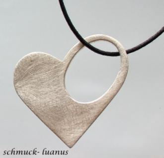 Herz Anhänger Silber matt