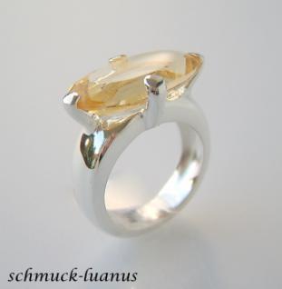 Ring Citrin Silber - Vorschau 1