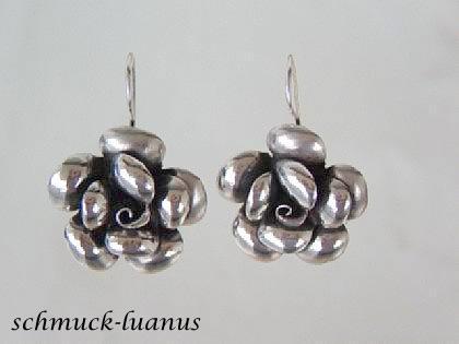 Rosen Ohrringe Silber