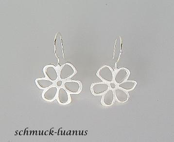 Ohrringe Silber Blüten