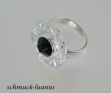 Ring Silber Onyx Tellerring - Vorschau 3